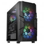 Кейс, Thermaltake, Commander C33 TG ARGB (CA-1N4-00M1WN-00), ATX/Micro ATX, USB23.0, HD-Audio+Mic, Контроллер , Кулер 12см, Кулер 12см LED, Без Б/П, Чёрный