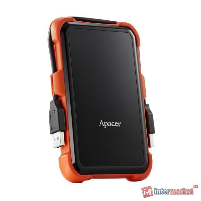 Внешний жесткий диск 2,5 1TB Apacer AP1TBAC630T-1 оранжевый